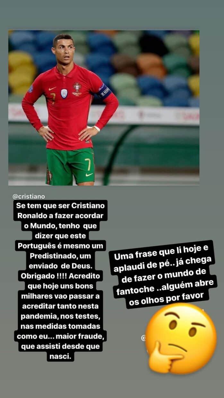Katia Aveiro, COVID-19, Cristiano Ronaldo