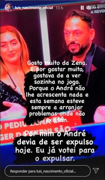 Big Brother, Teresa Guilherme, André Abrantes, Zena, Luís Nascimento,