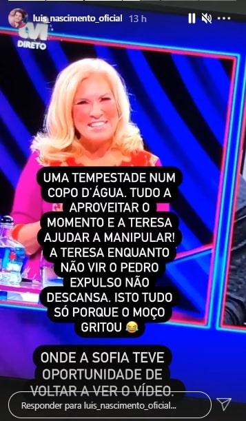 Big Brother, Teresa Guilherme, Pedro, Luís Nascimento