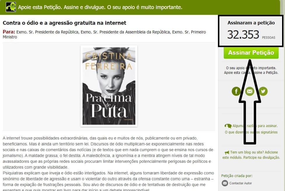 Cristina-Ferreira-Peticao