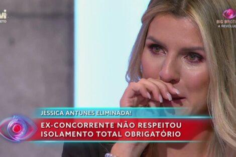 Jessica Antunes Lagrimas Big Brother