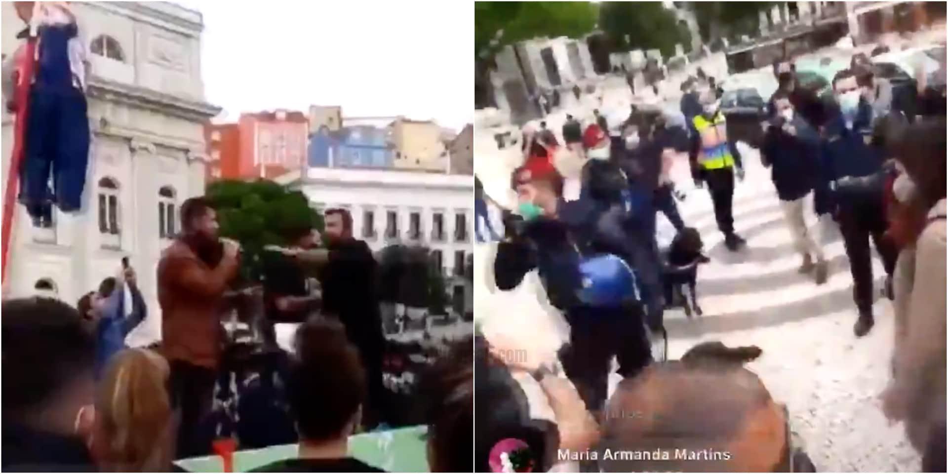 Observador Manifestacao Quase Agredido Ljubomir Stanisic