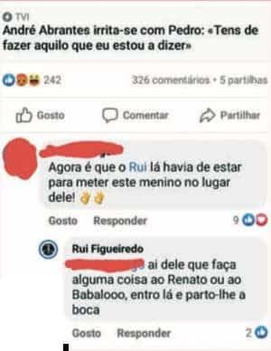 Rui Pedro Ameaca Andre Abrantes Big Brother