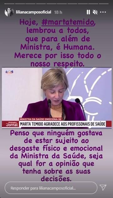 Liliana Campos, Marta Temido