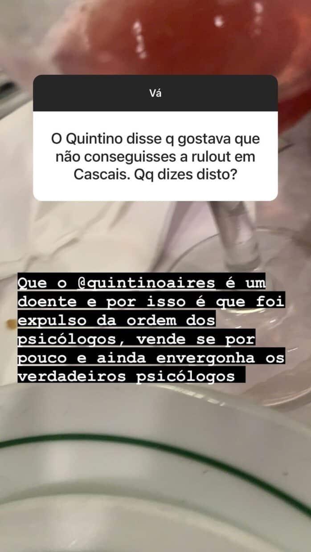 Big Brother Carina Responde Quintino Aires