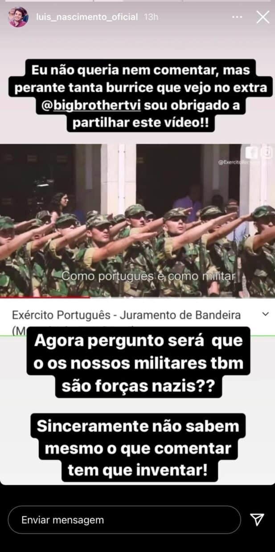 Luís Nascimento, Big Brother, Hélder, Saudação Nazi