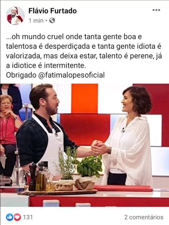 Flavio Furtado Reage Saida Fatima Lopes