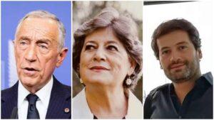 Marcelo Rebelo De Sousa Ana Gomes Andre Ventura Candidatos À Presidência Eleições Presidenciais