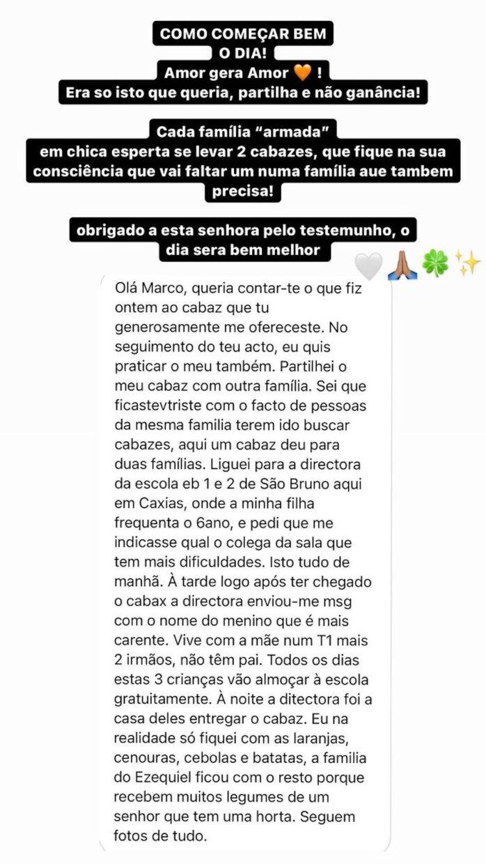 Marco Costa Mensagem Familia Carenciada