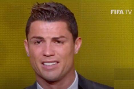 Cristiano Ronaldo Emocionado