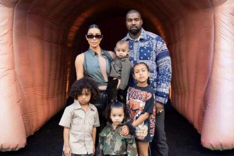 Kim Kardashian Kanye West Filhos
