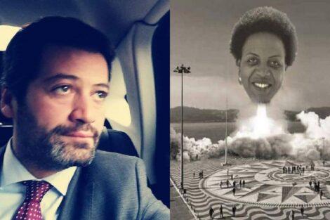 André Ventura, Partido Chega, Joacine Katar Moreira, Padrão Dos Descobrimentos