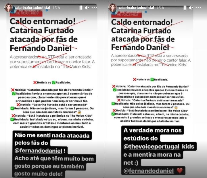 Catarina Furtado, Fernando Daniel, The Voice Kids