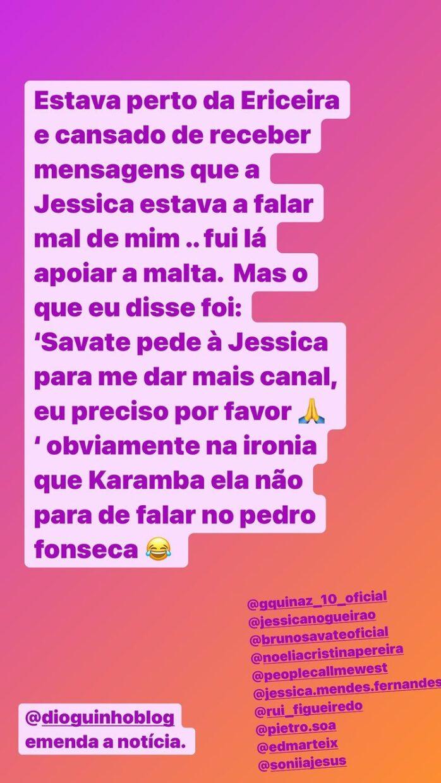 Big Brother, Pedro Fonseca, Instagram