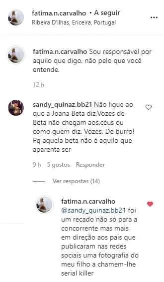 Mae Goncalo Quinaz Joana Big Brother