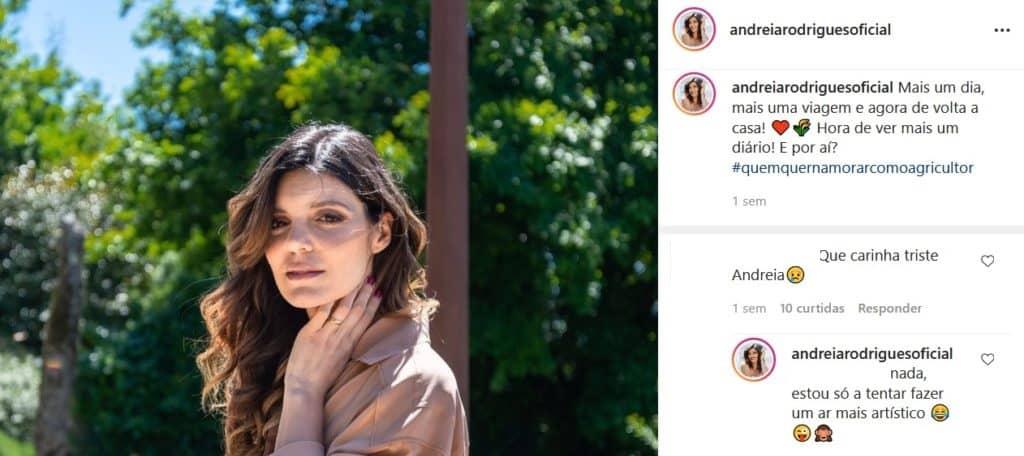 Andreia Rodrigues, Instagram