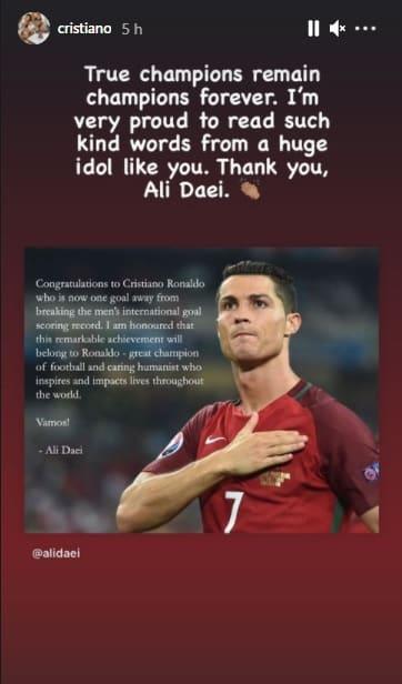Cristiano Ronaldo, Ali Daei