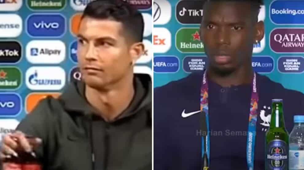 Cristiano Ronaldo, Paul Pogba, Coca-Cola, Heineken