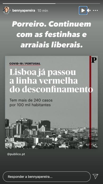 Benedita Pereira, Covid