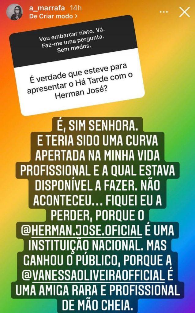 Rita Marrafa De Carvalho, Instastory