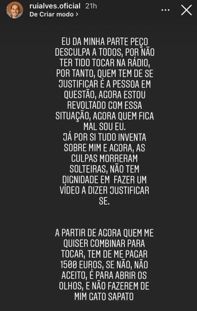 Rui Alves, Revoltado