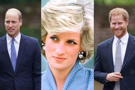 William, Harry, Princesa Diana
