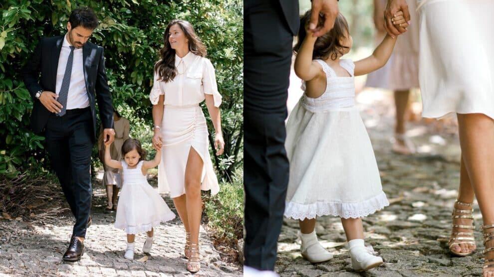 Claudia Vieira, Joao Alves, Filha Caetana Batizada