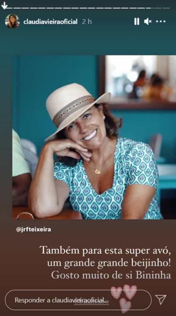 Cláudia Vieira, Mãe, Pedro Teixeira