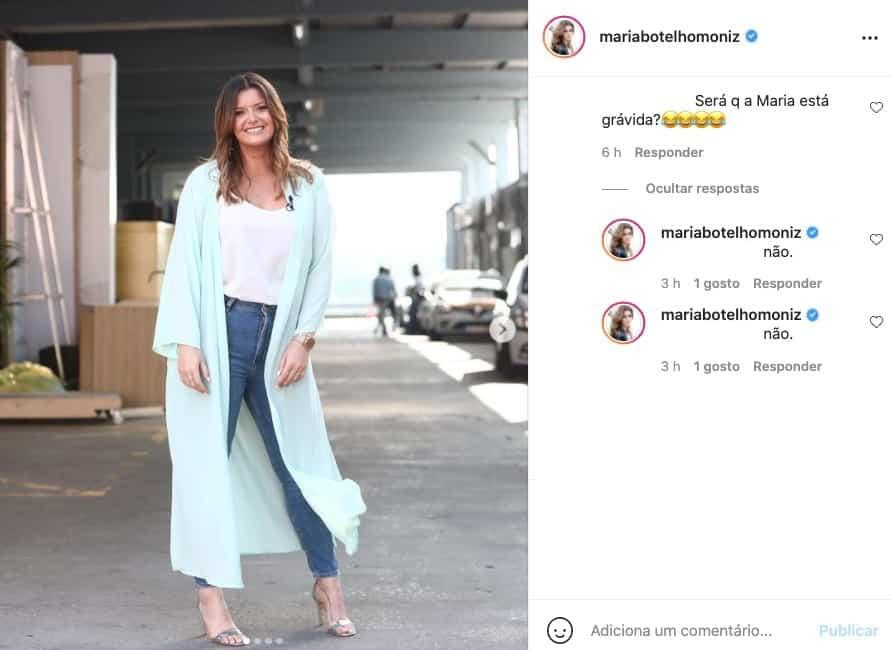 Maria Botelho Moniz, Grávida
