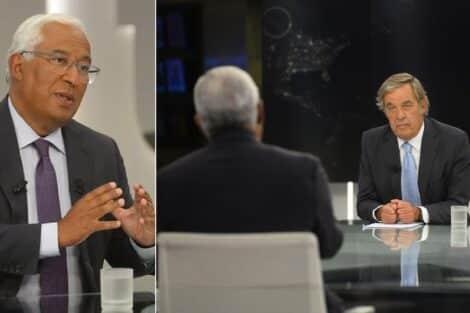 António Costa, Miguel Sousa Tavares, Jornal Das 8, Tvi
