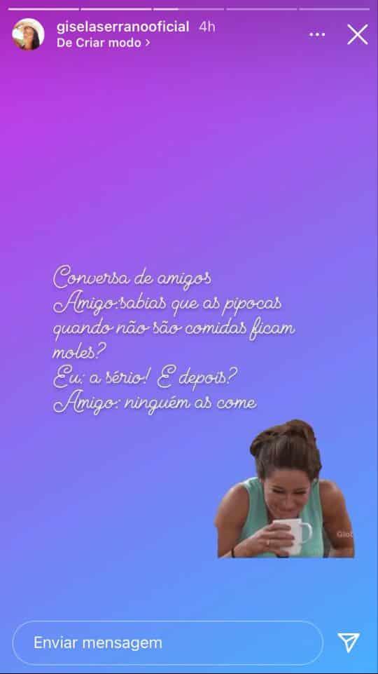 Gisela-Serrano-Instastory-Pipoca