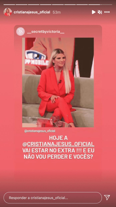 Cristiana-Jesus-Instastory-Extra-Big-Brother