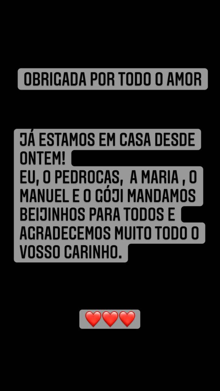 Sara-Matos-Instastory-Filho-Casa